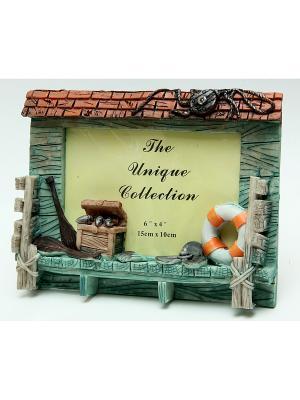 Фоторамка декоративная В домике моряка Magic Home. Цвет: серо-зеленый, темно-зеленый