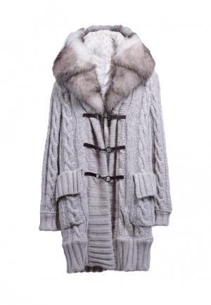 Пальто GALLOTTI. Цвет: серый
