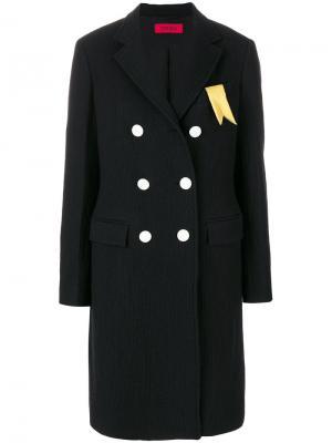 Двубортное пальто The Gigi. Цвет: чёрный