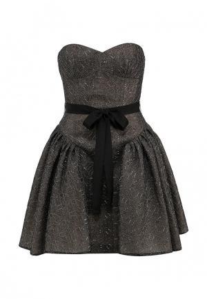 Платье BCBGMAXAZRIA. Цвет: коричневый