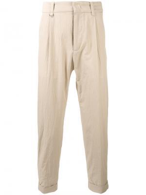 Укороченные брюки Paolo Pecora. Цвет: телесный
