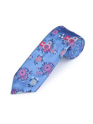 Галстук Motif Floral Ford Duchamp. Цвет: темно-синий, белый, лазурный, малиновый, розовый, светло-серый
