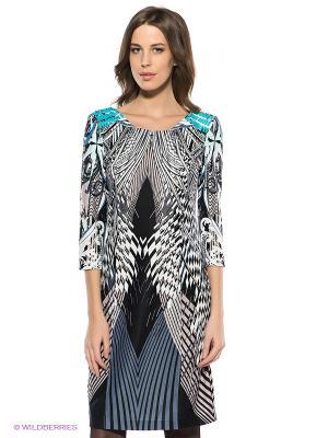 Платье SELA. Цвет: темно-серый, черный