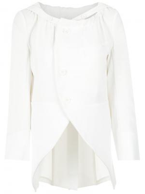 Gathered neck blouse Gloria Coelho. Цвет: белый