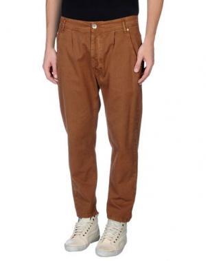 Джинсовые брюки NOVEMB3R. Цвет: коричневый