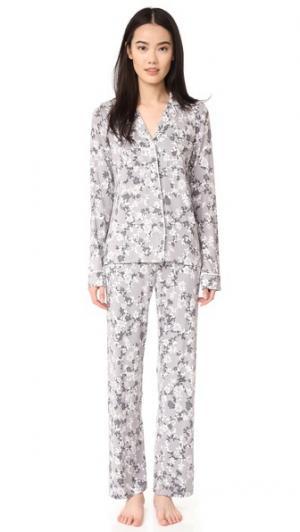 Винтажная пижама с цветочным рисунком PJ Salvage. Цвет: голубой