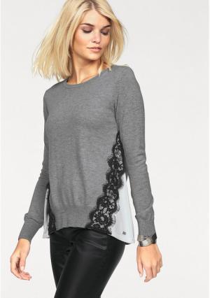 Пуловер Laura Scott. Цвет: серый меланжевый