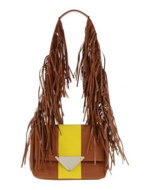 Сумка на плечо SARA BATTAGLIA. Цвет: желто-коричневый