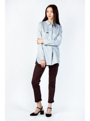 Рубашка BURLO. Цвет: светло-голубой