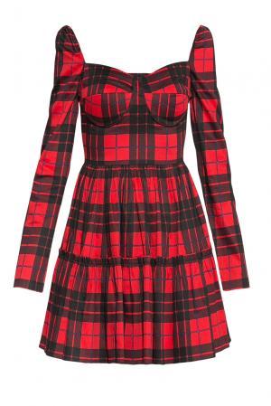 Платье из хлопка 176313 Paola Morena. Цвет: красный