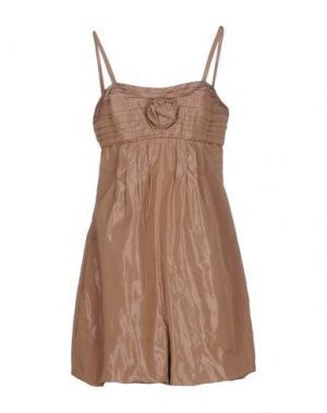 Короткое платье MISS MONEY. Цвет: светло-коричневый