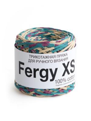 Пряжа Fergy XS. Цвет: голубой, бежевый, розовый