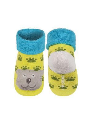 Носки детские с игрушкой Soxo. Цвет: салатовый