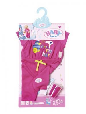 Игрушка BABY born Пижама, зубная щетка и стаканчик, веш ZAPF. Цвет: розовый