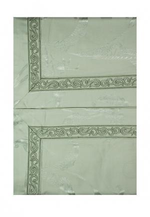 Комплект постельного белья Семейный Asabella. Цвет: зеленый