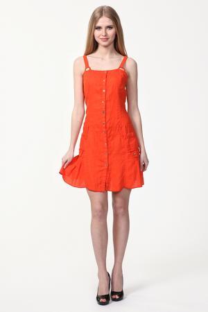 Платье Sanbal. Цвет: оранжевый