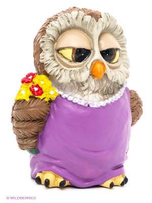 Фигурка-сова Мадам Оззи The Comical World of Stratford. Цвет: сиреневый, бежевый, желтый, коричневый
