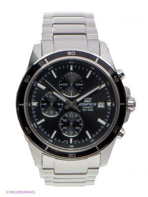 Часы EDIFICE CASIO. Цвет: серебристый, черный
