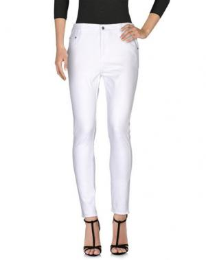 Джинсовые брюки LEGZ. Цвет: белый
