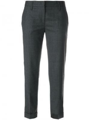 Укороченные брюки Pantalo Aspesi. Цвет: серый