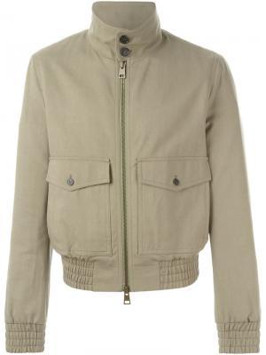 Куртка с воротником-стойкой Ami Alexandre Mattiussi. Цвет: зелёный