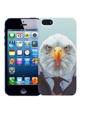 Чехол для iPhone 5/5s Орел в костюме Kawaii Factory. Цвет: светло-голубой, белый, желтый
