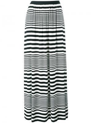 Длинная юбка в полоску IM Isola Marras I'M. Цвет: чёрный