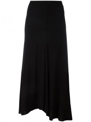 Длинная юбка с асимметричным подолом Alberto Biani. Цвет: чёрный