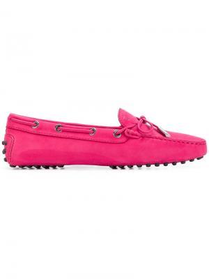 Классические мокасины на шнурке Tods Tod's. Цвет: розовый и фиолетовый
