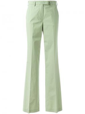 Расклешенные брюки с высокой талией Etro. Цвет: зелёный