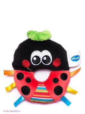 Игрушка-погремушка Божья коровка Playgro. Цвет: черный, малиновый
