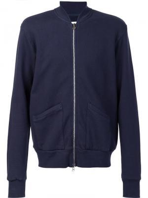 Куртка бомбер с накладными карманами 321. Цвет: синий