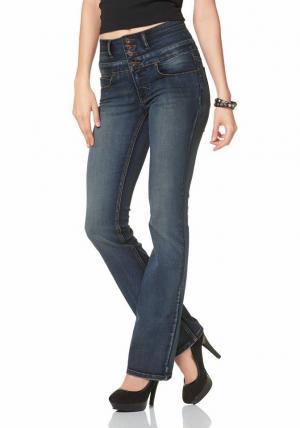 Arizona, джинсы покроя Bootcut Otto. Цвет: синий