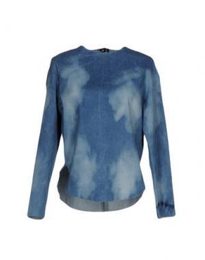 Джинсовая рубашка ARIES. Цвет: синий