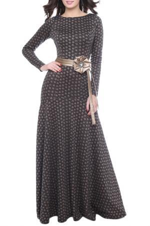 Платье Olivegrey. Цвет: розочки, черный
