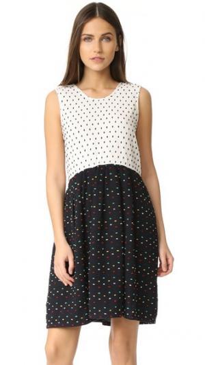 Мини-платье Joni ace&jig. Цвет: жемчужный