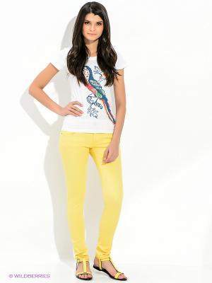 Джинсы F5. Цвет: желтый