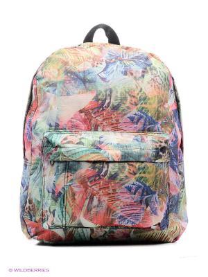 Рюкзак принтованные Modis. Цвет: зеленый, розовый