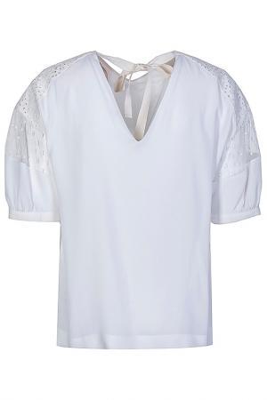Блуза с V-образным вырезом N°21. Цвет: белый