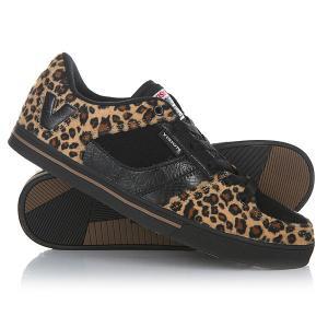 Кеды кроссовки низкие  Flipside Leopard/Blk/Gum Vision. Цвет: черный,оранжевый