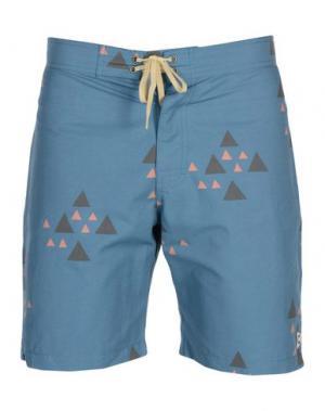Пляжные брюки и шорты MOLLUSK. Цвет: грифельно-синий