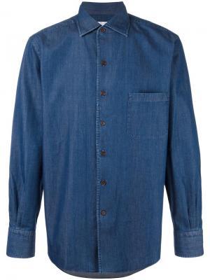 Джинсовая рубашка Loro Piana. Цвет: синий