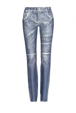 Кожаные брюки 182829 Jitrois. Цвет: синий