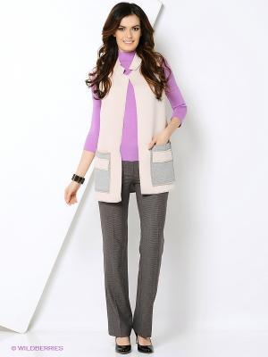 Жилет Milana Style. Цвет: бледно-розовый, кремовый