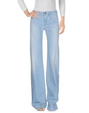 Джинсовые брюки ROŸ ROGER'S. Цвет: синий