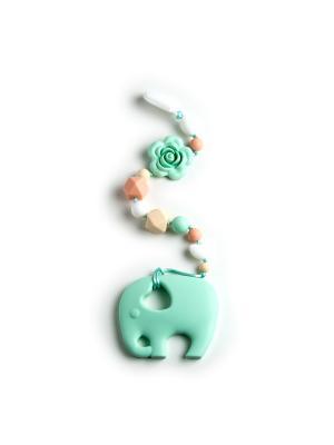 Игрушка-подвеска MamSi. Цвет: салатовый, бежевый, белый