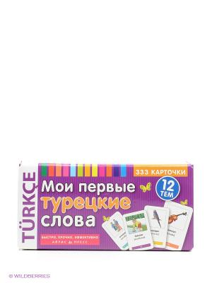 Карточки. Мои первые турецкие слова . 333 карточки для запоминания АЙРИС-пресс. Цвет: фиолетовый
