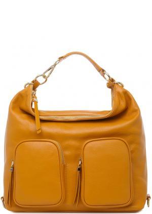 Сумка-рюкзак Carla C. Цвет: желтый