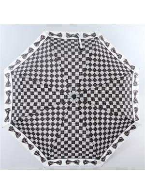 Зонт Zest, 3 слож, ПолнАвто, П-Э Zest. Цвет: черный, светло-бежевый