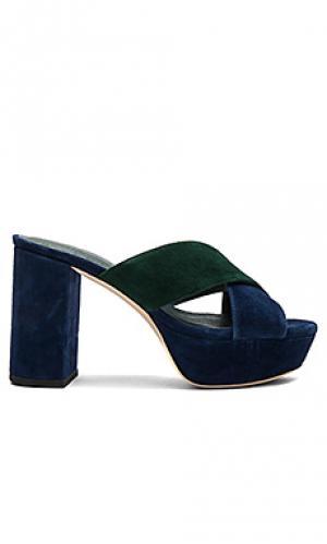 Туфли на каблуке petra RAYE. Цвет: синий